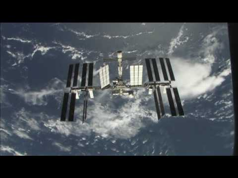 STS 119 HD ISS Fly Around Sped Up