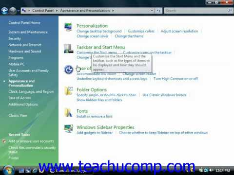 Windows Tutorial The Control Panel Microsoft Training Lesson 2.5