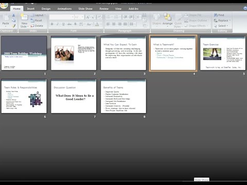 PowerPoint 2007: Viewing and Printing Slides