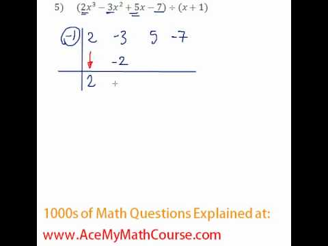Polynomials - Synthetic Division Question #5