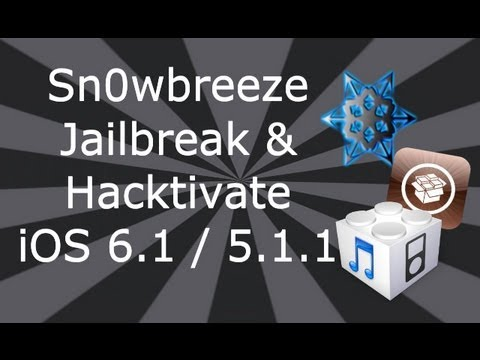New Sn0wbreeze 5.1.1 Jailbreak For iPhone 4, 3GS, iPod Touch 4, 3 & iPad