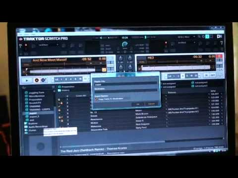 Traktor Scratch Pro Video 15 Export playlist