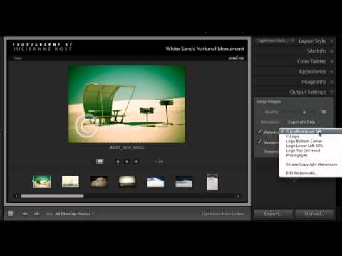 Share Images on the Web from Lightroom 3
