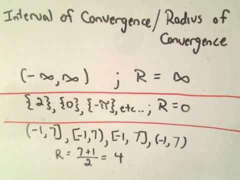 Radius of Convergence for a Power Series