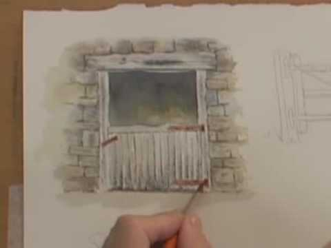Watercolor Painting Lesson - Wood, Metal & Rust