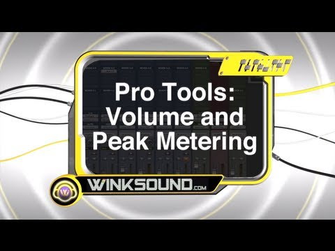 Pro Tools: Volume and Peak Metering