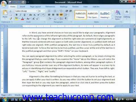 Word Tutorial Line Spacing and Paragraph Spacing Microsoft Training Lesson 6.3