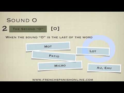 The Sound O in French