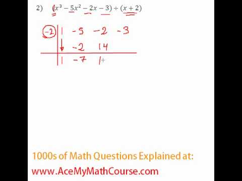 Polynomials - Synthetic Division Question #2