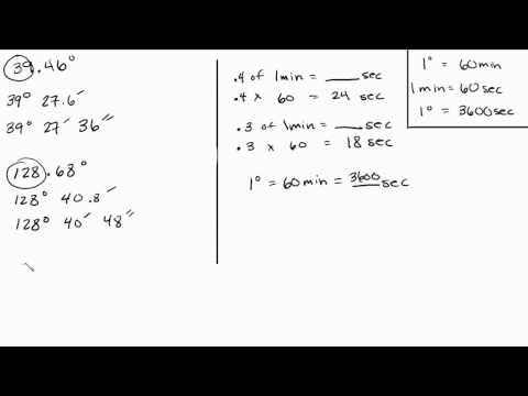 Trigonometry - Convert Decimals to Minutes and Seconds - Part 2 of 3 Intuitive Math Help