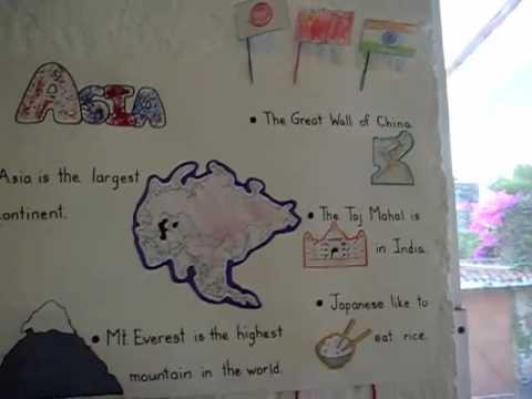 Preschool-Social Studies. Continents study