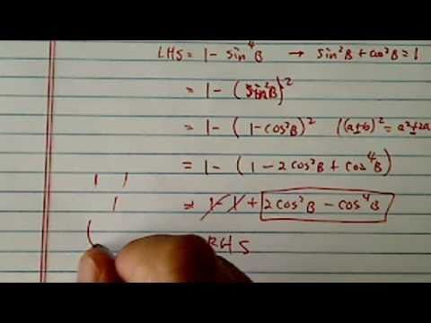 Trig Identity: prove (1-sinB^2)(1+sinB^2)= 2cosB^2 - cosB^4???