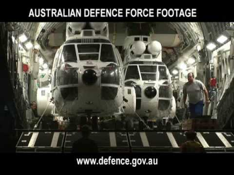 RAAF - C-17A Lifting United Nations Choppers