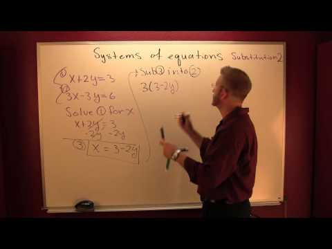 Solve a system by substitution 2.mov