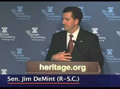 Sen. Jim DeMint on the problem of out-of-wedlock births