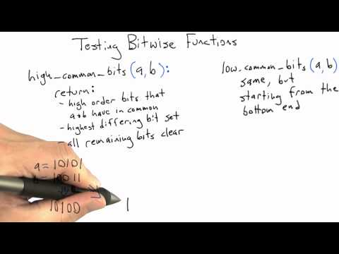 Testing Bitwise Functions - Software Testing - Random Testing - Udacity