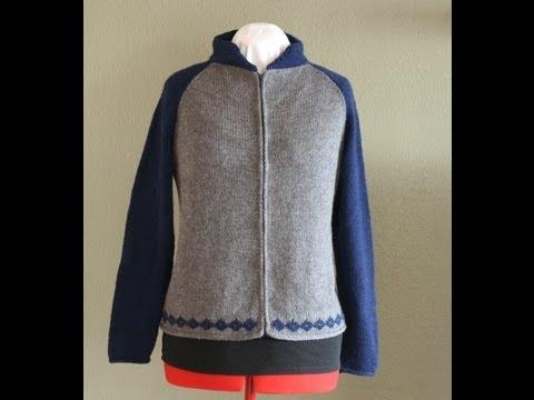 Woman's Zippered Letterman's Jacket, Parts 1-9