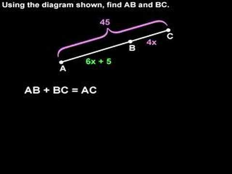 Segment Addition Postulate - YourTeacher.com - Geometry Help