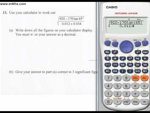 q13 Edexcel Linear Higher June 2011 calculator (quick worked example)