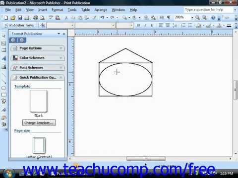 Publisher 2003 Tutorial Inserting AutoShapes Microsoft Training Lesson 5.3