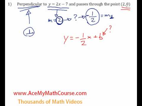 Perpendicular Lines - Question #1