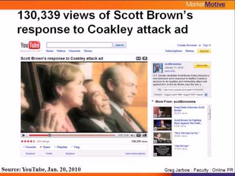 YouTube & the Scott Brown / Martha Coakley election