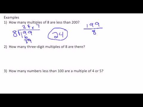 The Number of Multiples/Divisors Less than a Number