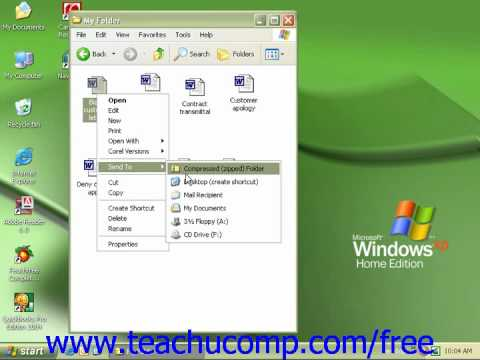Windows XP Tutorial Copying a File to a Floppy Disk Microsoft Training Lesson 6.13