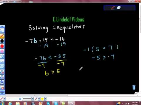 Solving Linear Inequalities Pt I