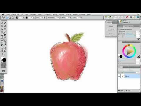 Painter 12: Texture-aware media | lynda.com tutorial