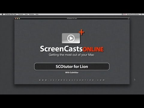 SCOtutor for Lion - New Video Tutorial Promo