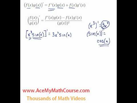 Product & Quotient Rule Intro