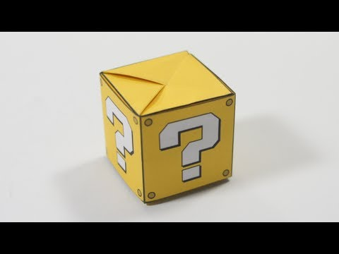Origami Question Mark Box