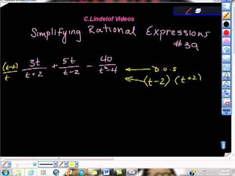 Simplifying Rational Equations College Algebra