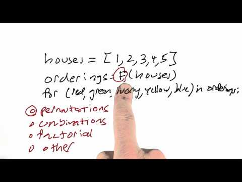 Ordering Houses Solution - CS212 Unit 2 - Udacity