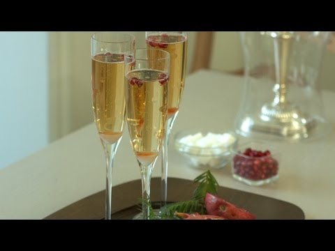 Pomegranate Champagne Cocktail Recipe: Make It (How to) || KIN EATS