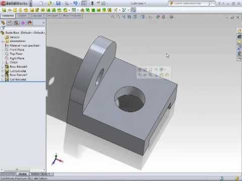 Solidworks 2011 Editing Sketches Tutorial Video
