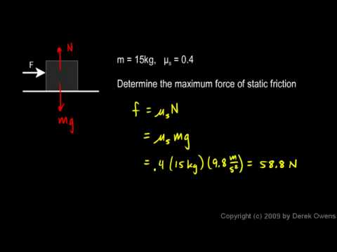 Physics 4.7.3a - Friction Example 1
