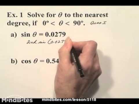 Trigonometry: Solving 1st Degree Trig Equations  325