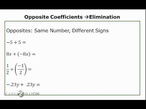 Solve systems of equations using elimination (2) - 8.EE.8