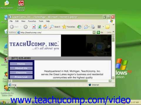Windows XP Tutorial Using a Web Browser Microsoft Training Lesson 7.2
