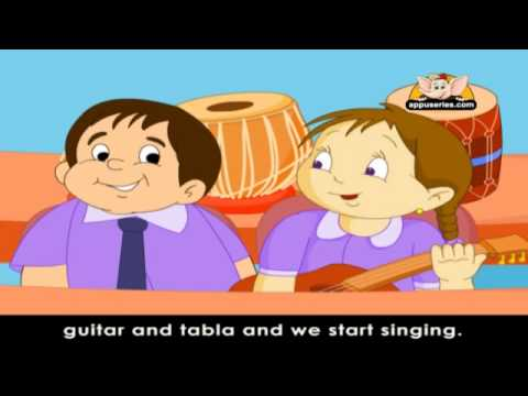Rhymes for Learning English with Lyrics -  My School