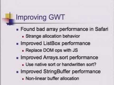 Voices That Matter: GWT - Unit Testing and Benchmarking