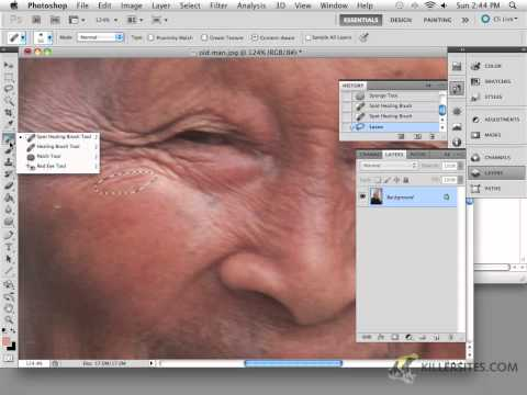 Photoshop CS5 - Spot Healing Brush Tool