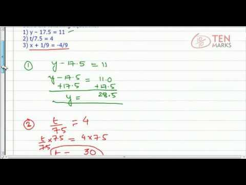 Rational Number Equations