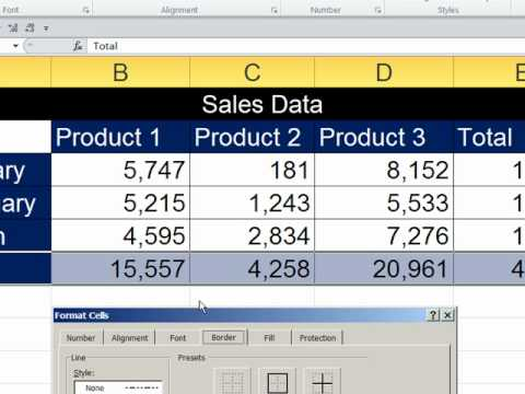 Office 2010 Class #27: Excel Stylistic Formatting & Page Setup For Reports