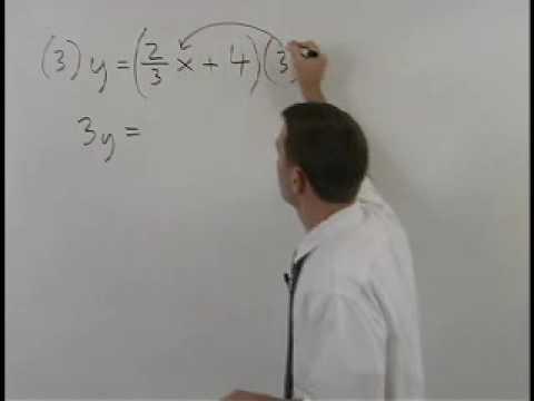 Standard Form of a Line - YourTeacher.com - Algebra Help
