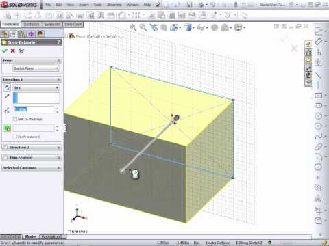 Solidworks 2012 Tutorial | Automatic Sketch Relations and Cursor Feedback