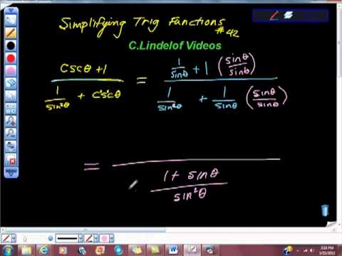 Simplifying Trigonometric Functions 42