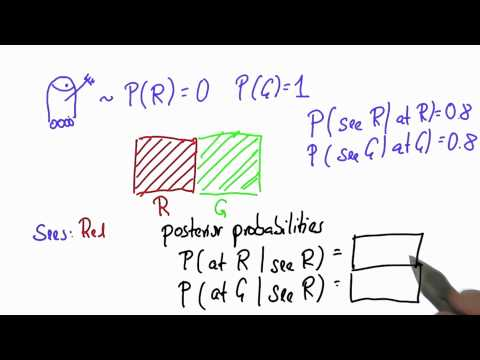 Robot Sensing 2 - Intro to Statistics - Bayes Rule - Udacity
